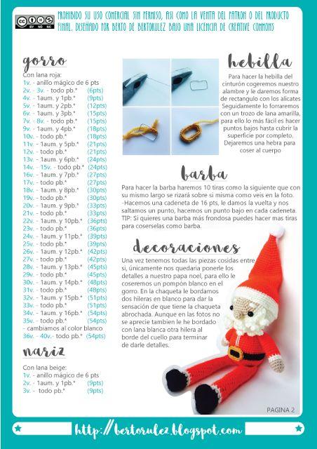 patrón crochet de adornos de navidad en castellano