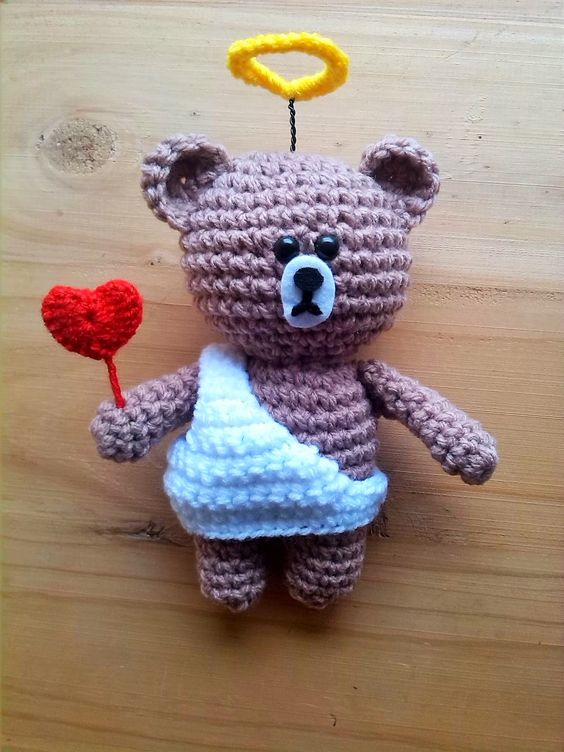 Osito cupido crochet