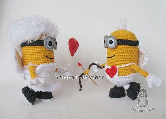 Minions crochet de San Valentín