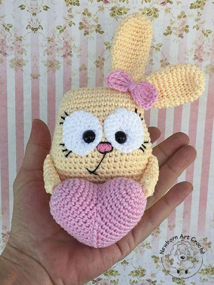 conejito san valentin crochet