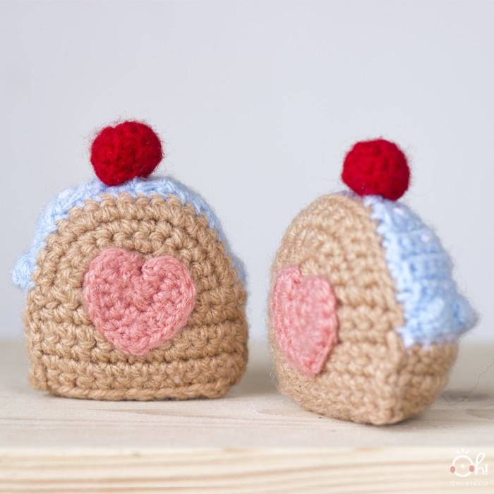 pastelito de amor en crochet