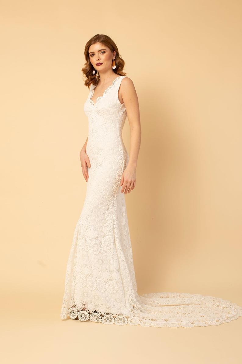 vestido novia ganchillo