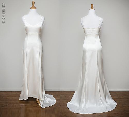 Base en raso para vestido de novia
