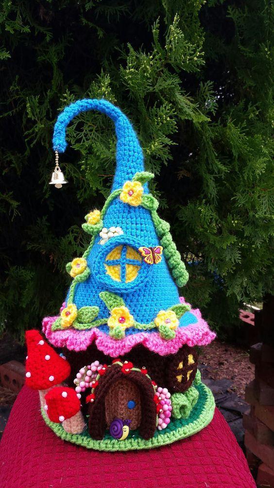 Casa de gnomos en crochet