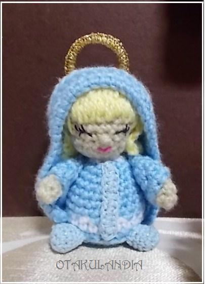 La virgen María amigurumi