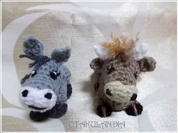 Buey y Mula en crochet