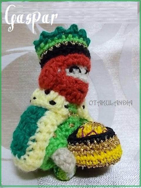 Gaspar, rey mago en crochet