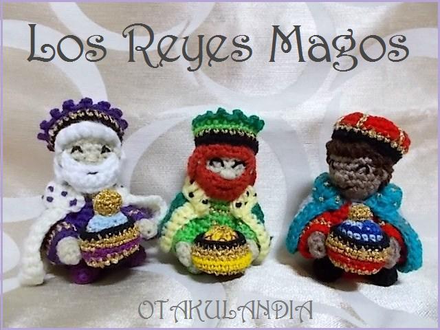 Los tres Reyes Magos en crochet