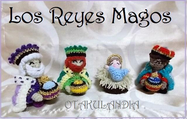 Reyes magos amigurumis