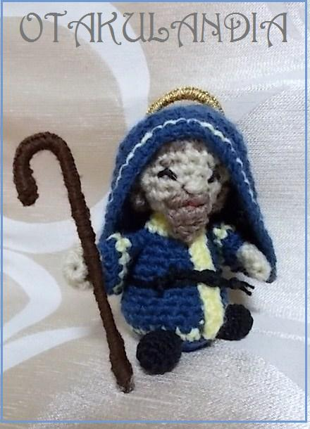 San José con su bastón y todo en crochet