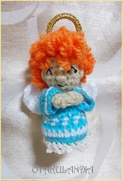 Ángel de la Anunciación en crochet
