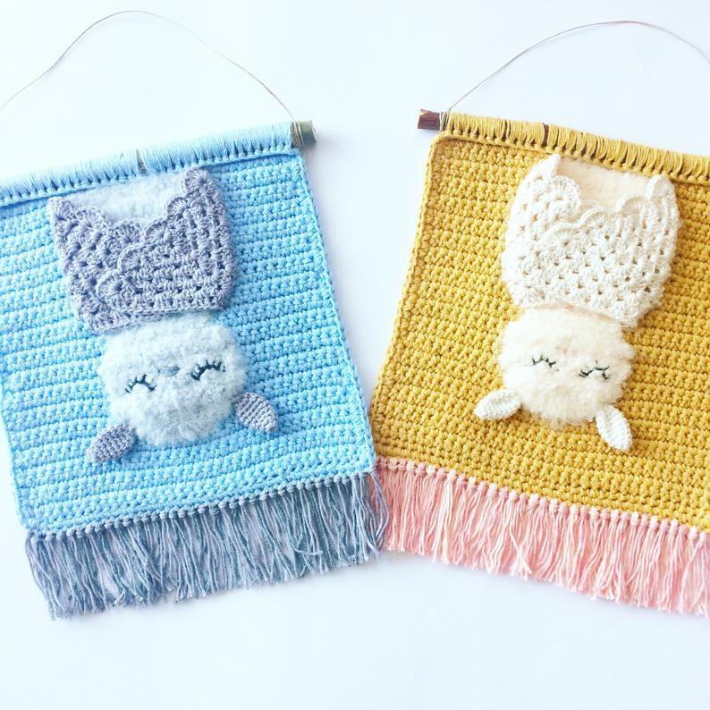 cuadro infantil decoracion crochet