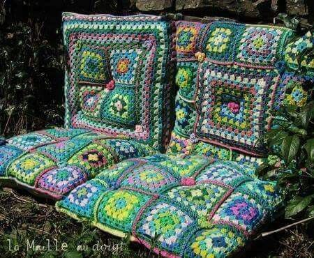 Fundas de asientos hechas de crochet