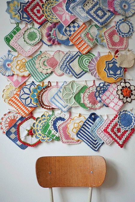 Paños agarradores para cocina en crochet