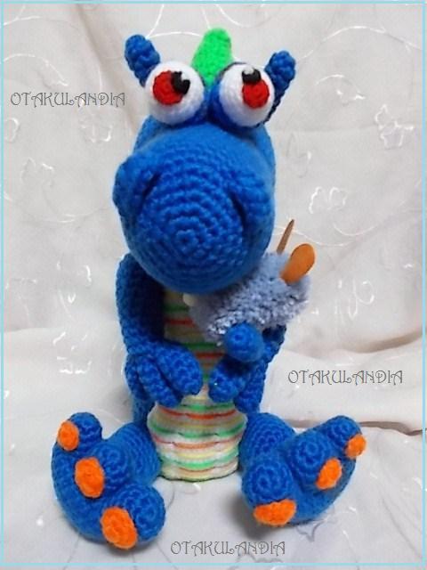 dragones de otakulandia en crochet