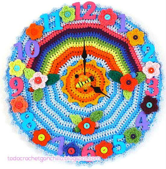 reloj crochet-otakulandia.es