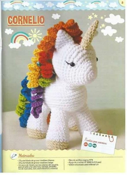 Un unicornio llamado Cornelio - patrón castellano