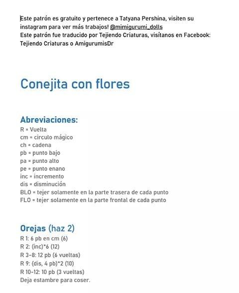 ¡ La conejita más coqueta de internet ! - Patrón en castellano