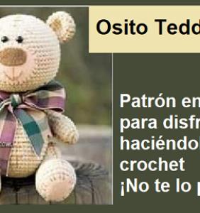 Osito elegante – patrón en castellano