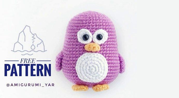 pingüino patrón amigurumi