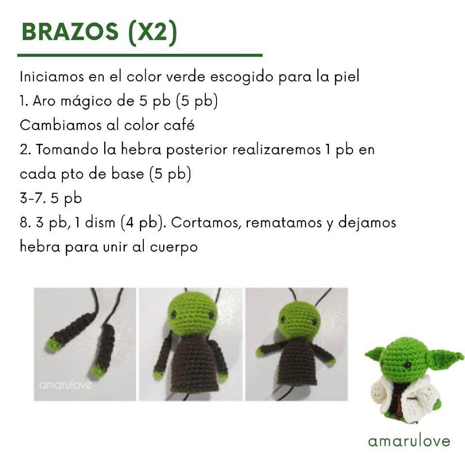Maestro Yoda - patrón en castellano