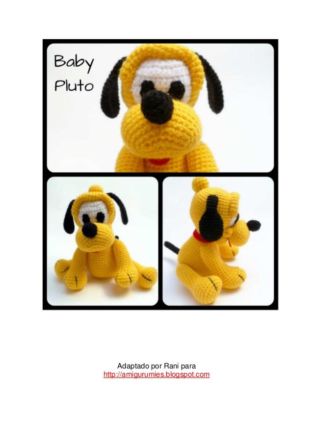 Pluto bebé (Disney) - patrón en castellano