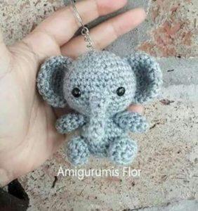 Elefantito – patrón de Amigurumis Flor en castellano