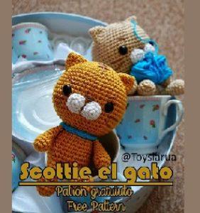 Scottie el gato de ToysLarua – patrón en castellano e inglés