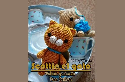 Scottie el gato de ToysLarua - patrón en castellano