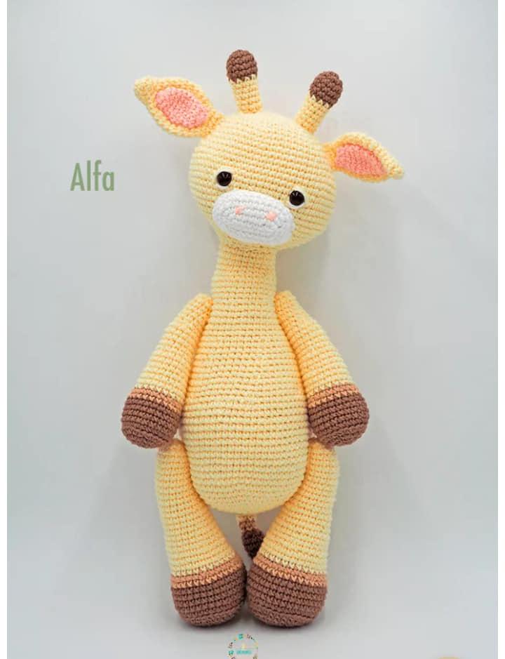 patrón jirafa crochet