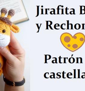 Jirafita bonita y rechonchita – patrón en castellano
