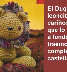 """El Duque León """"carita de bombón"""" – patrón castellano"""
