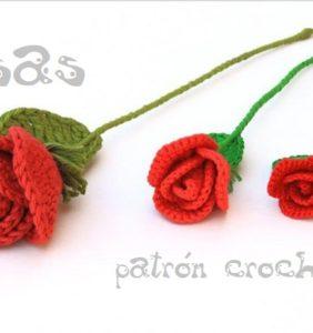 Preciosas Rosas para hacer en crochet