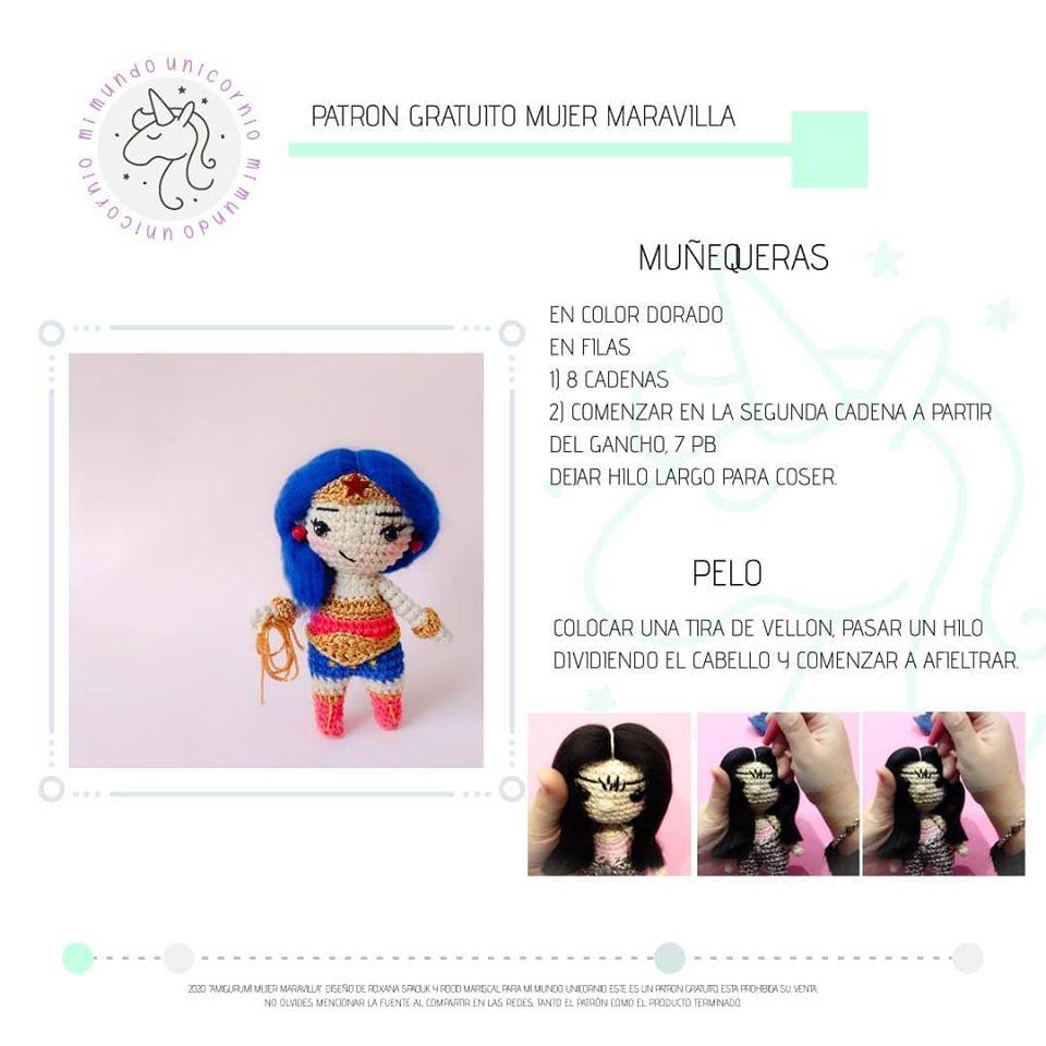 Wonder Woman (Mujer Maravilla) - patrón castellano