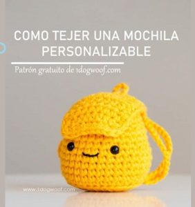Mini Mochila Amigurumi patrón en castellano