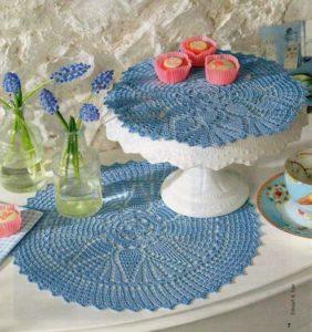 14 Tapetes (carpetas) con gráficos en crochet