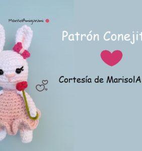 Patrón conejita Lau cortesía de MarisolAmigurumi