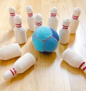 ¿ Te gusta jugar a los Bolos ? Juegos de bolos en crochet