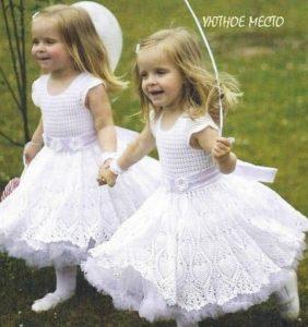 El esplendor del blanco en vestidos para nenas
