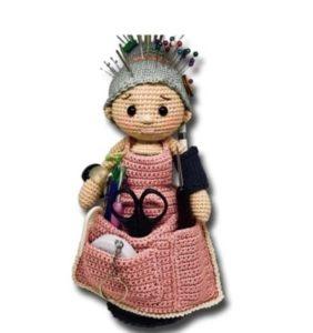 Abuelita alfiletero cortesía de Zhaya Designs