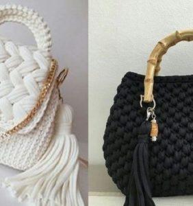 17 Lindos puntos para tus bolsos de crochet