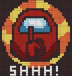 Among Us 41 gráficos para tejer en filet crochet