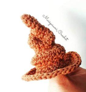Sombrero Seleccionador Harry Potter cortesía de Marigurumi Crochet
