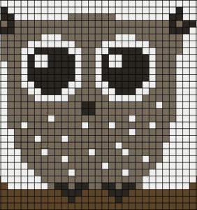 Búhos – Gráficos filet crochet para Halloween